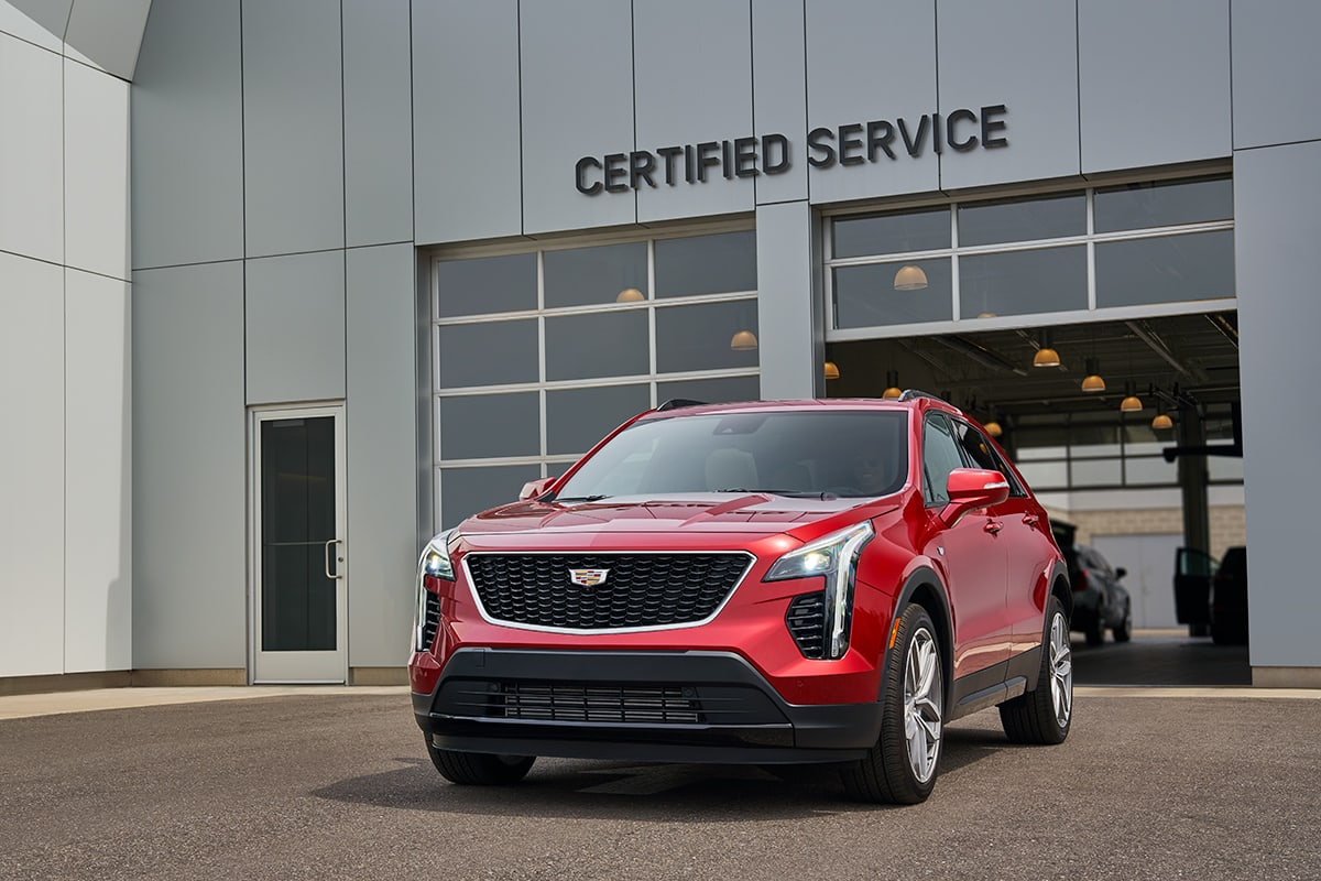 Cadillac SUV at service center