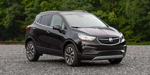 2022 Buick Encore parked in front of bushes