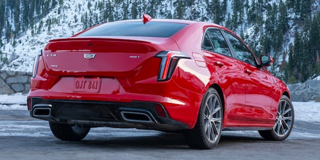 2021 Cadillac CT4 Rear View