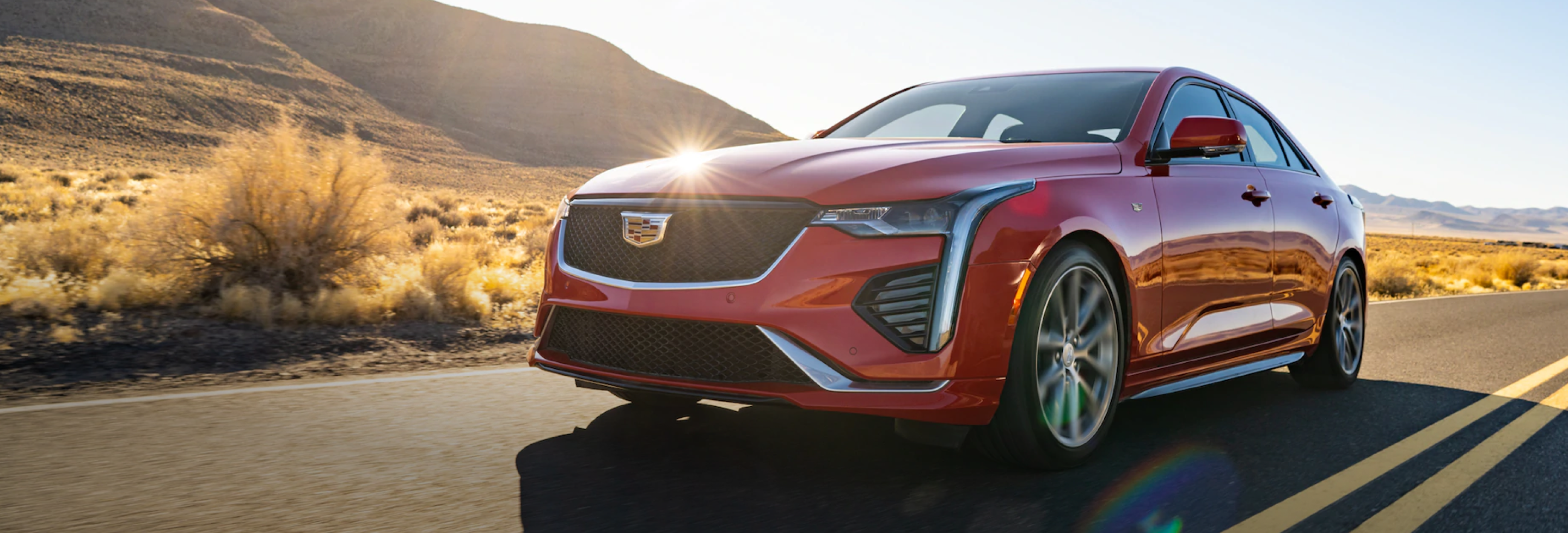 2021 Cadillac CT4 Red Front Angle View