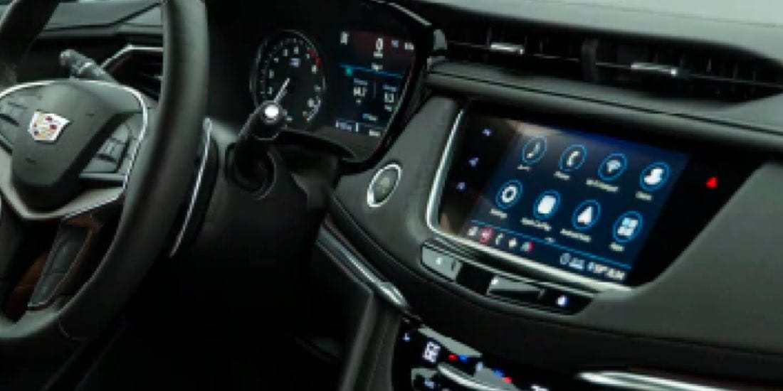 2021 Cadillac XT6's Close up of Dash