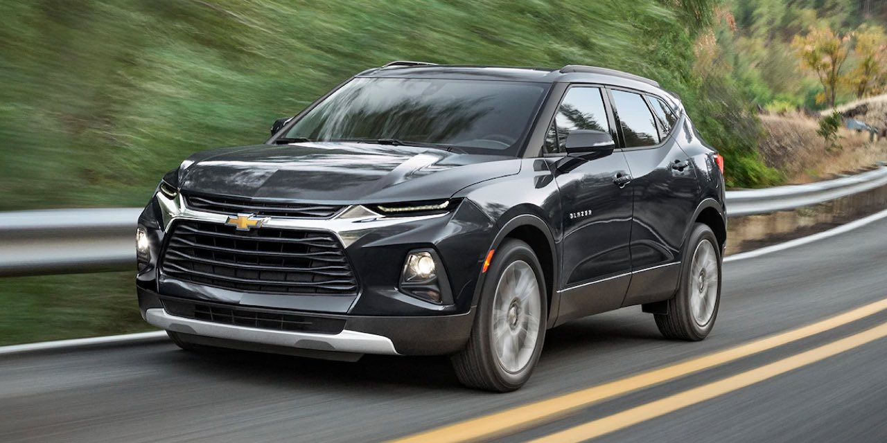 2021 Black Chevrolet Blazer Front Angle View