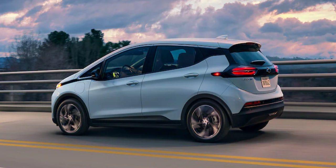 2022 Chevrolet Bolt EV driving on highway