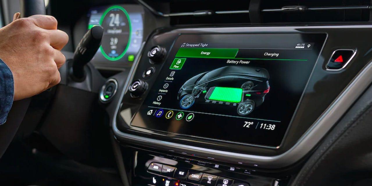 2022 Bolt EV updated dashboard with digital display