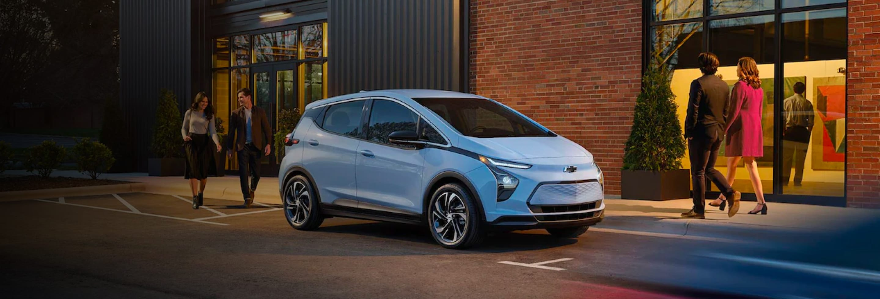 Front angled shot of 2022 Chevy Bolt EV