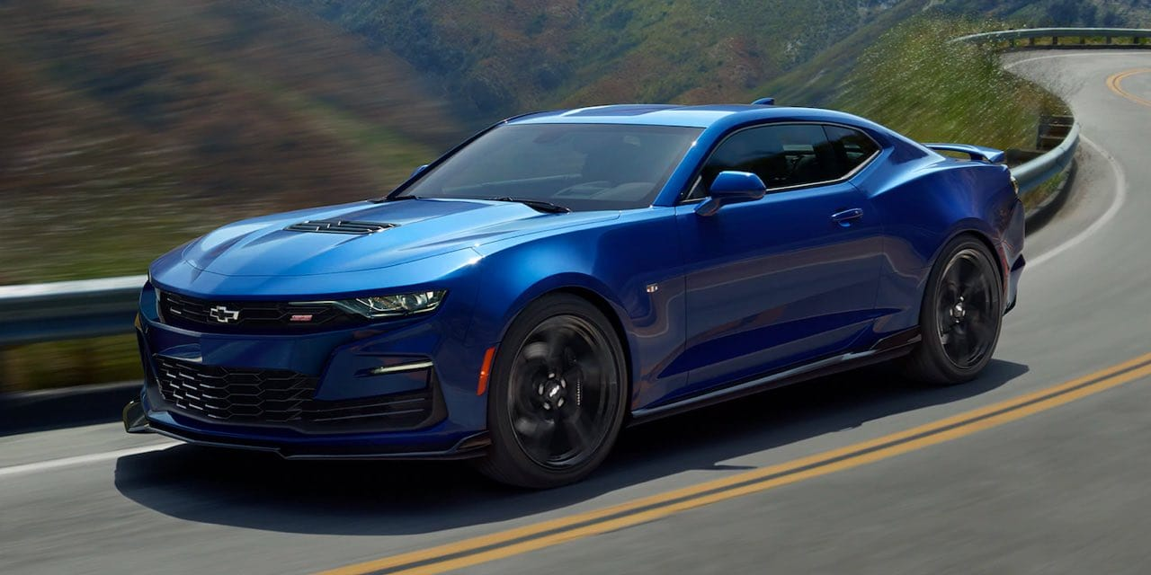 2021 Blue Chevrolet Camaro Front Angle View