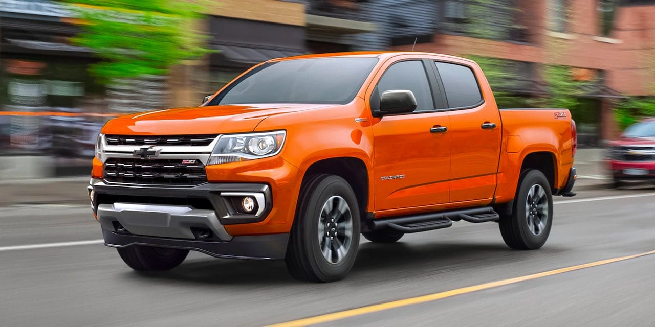Orange 2021 Chevrolet Colorado
