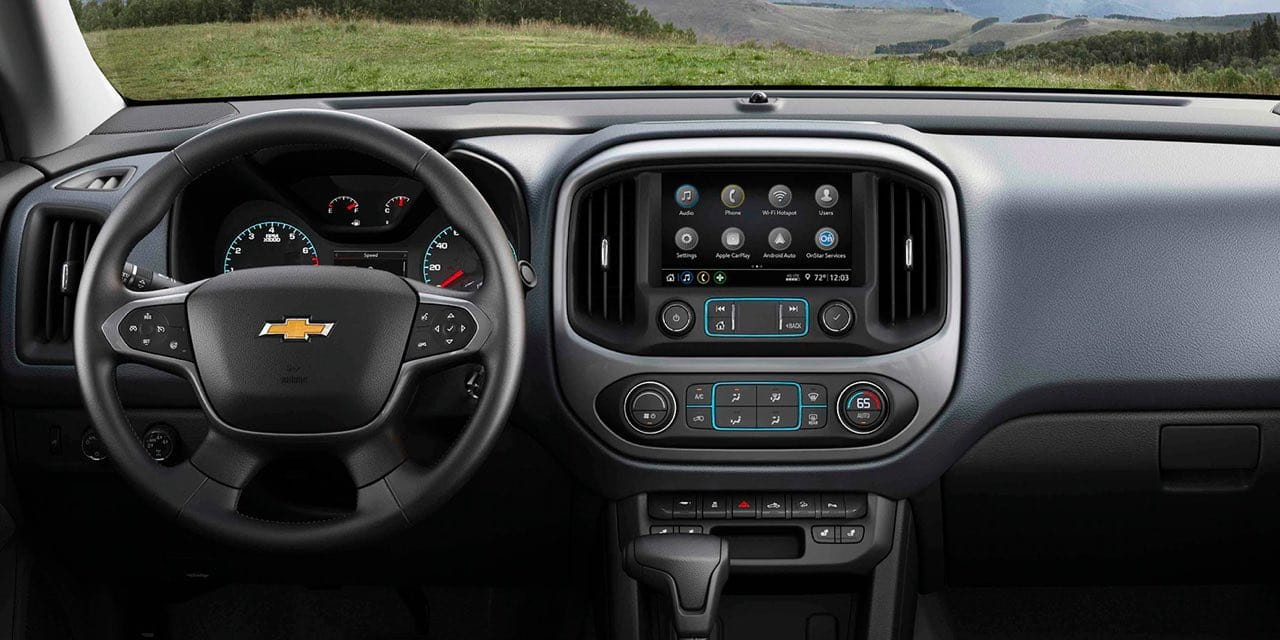 Interior of 2021 Chevrolet Colorado