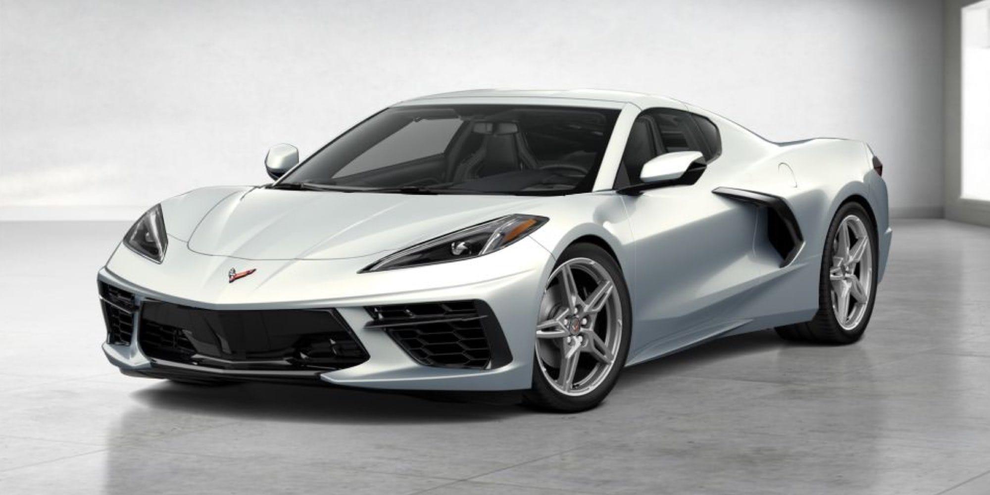 Silver Flare Metallic Corvette