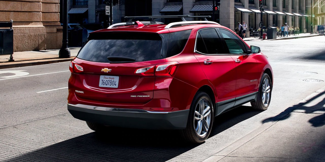 2021 Red Chevrolet Equinox Rear Angle View