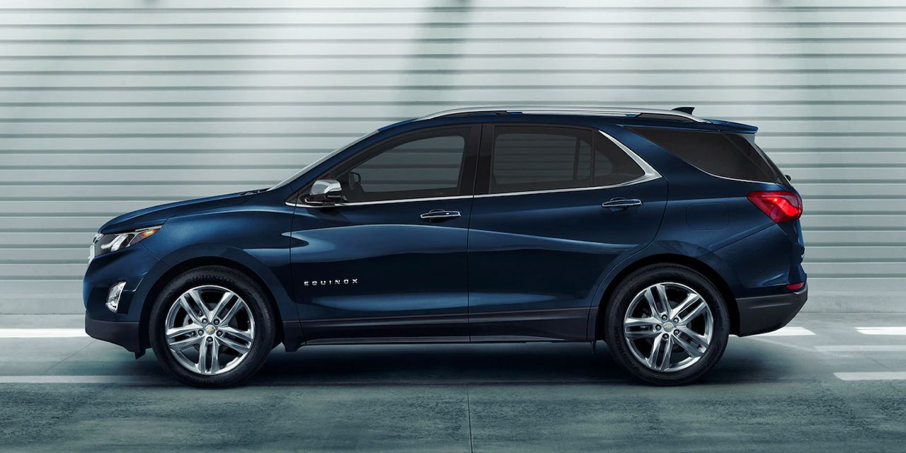 2021 Blue Chevrolet Equinox Side View