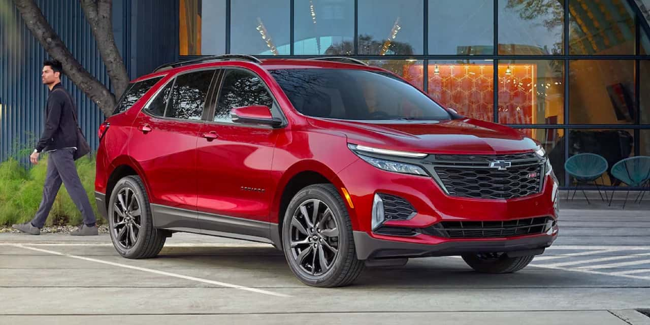 2021 Red Chevrolet Equinox Front Angle View