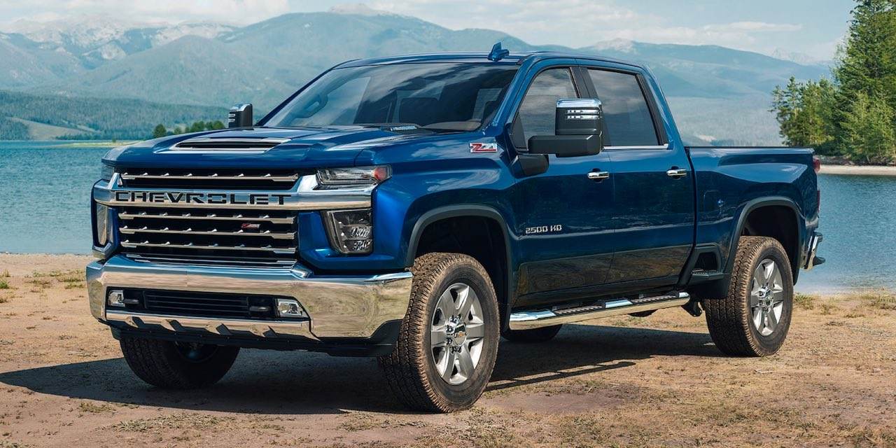 2021 Blue Chevrolet Silverado HD