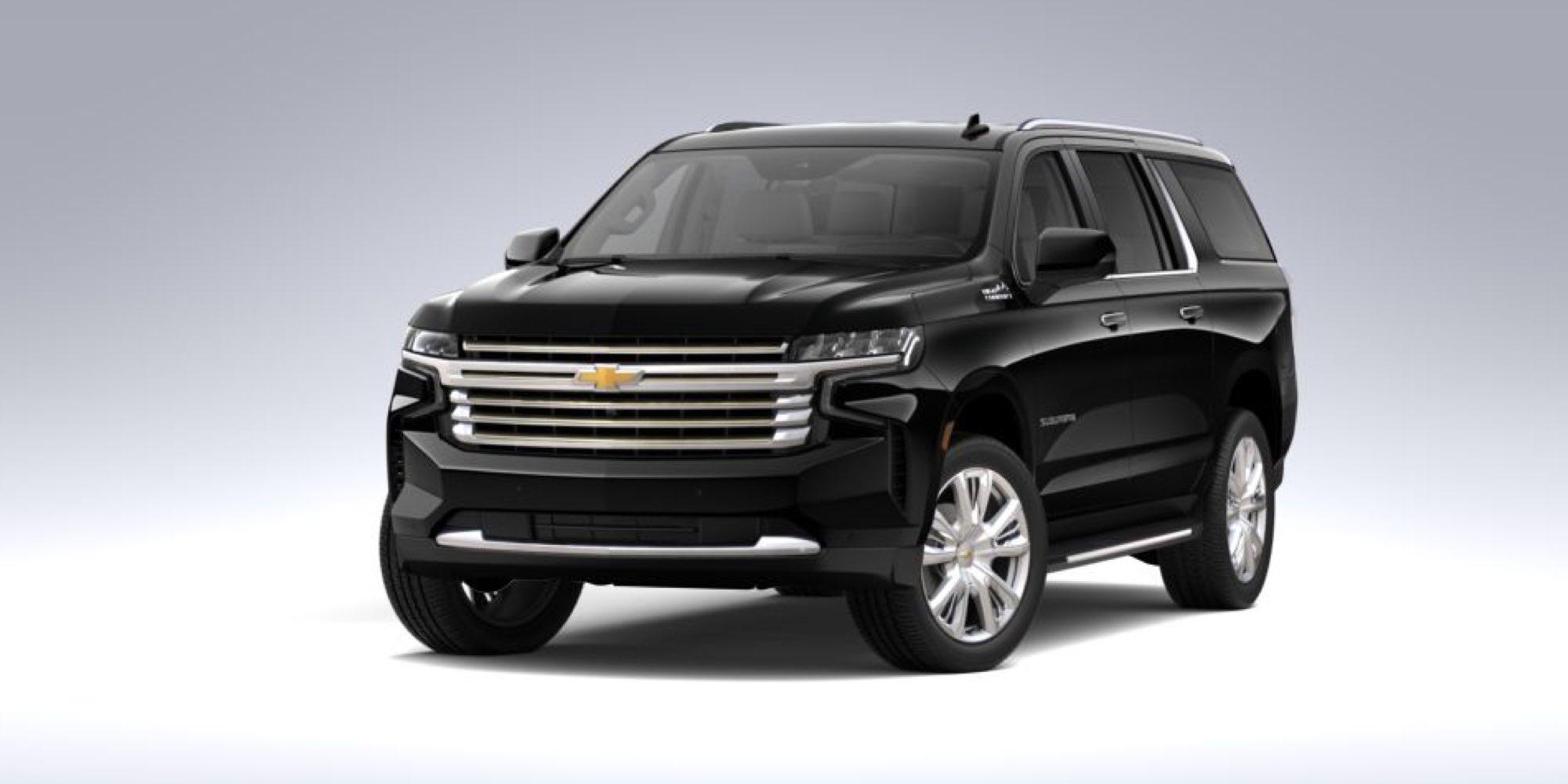 2021 Chevy Suburban in Black