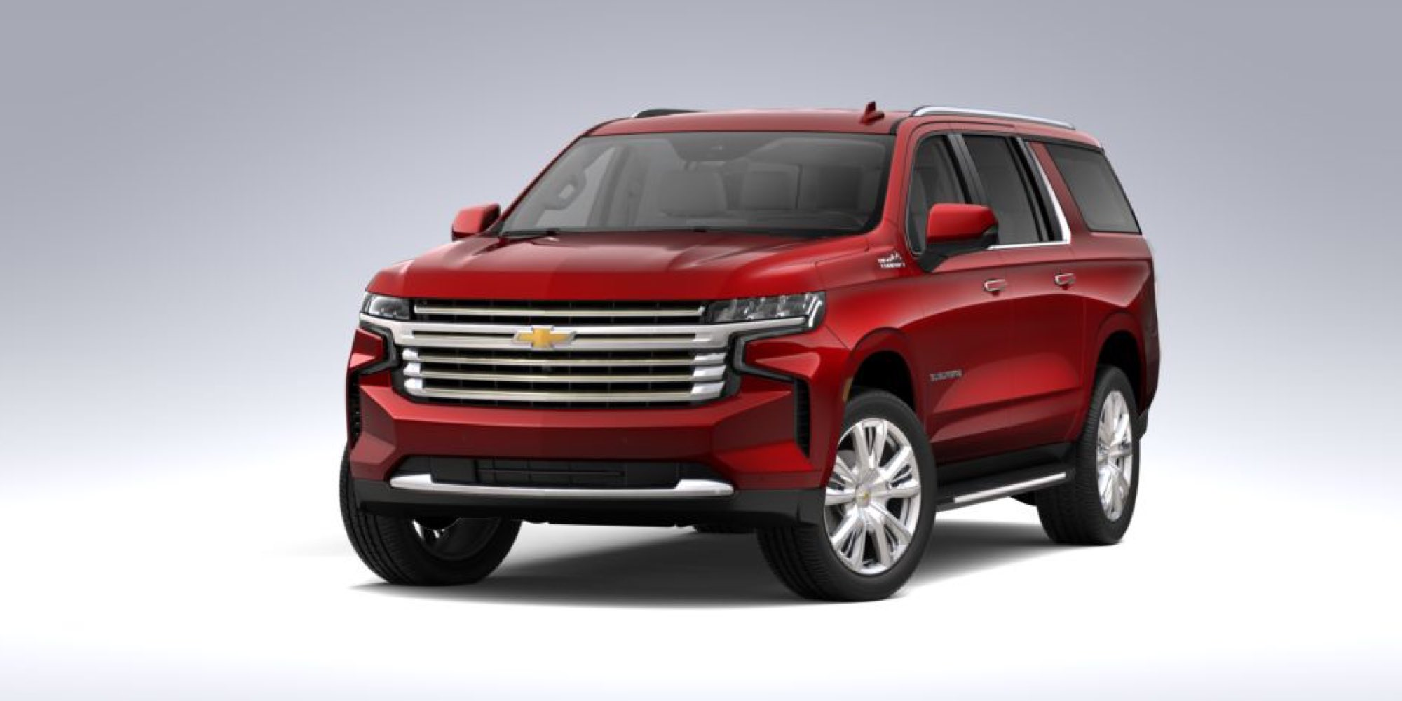2021 Chevy Suburban in Cherry Red Tintcoat
