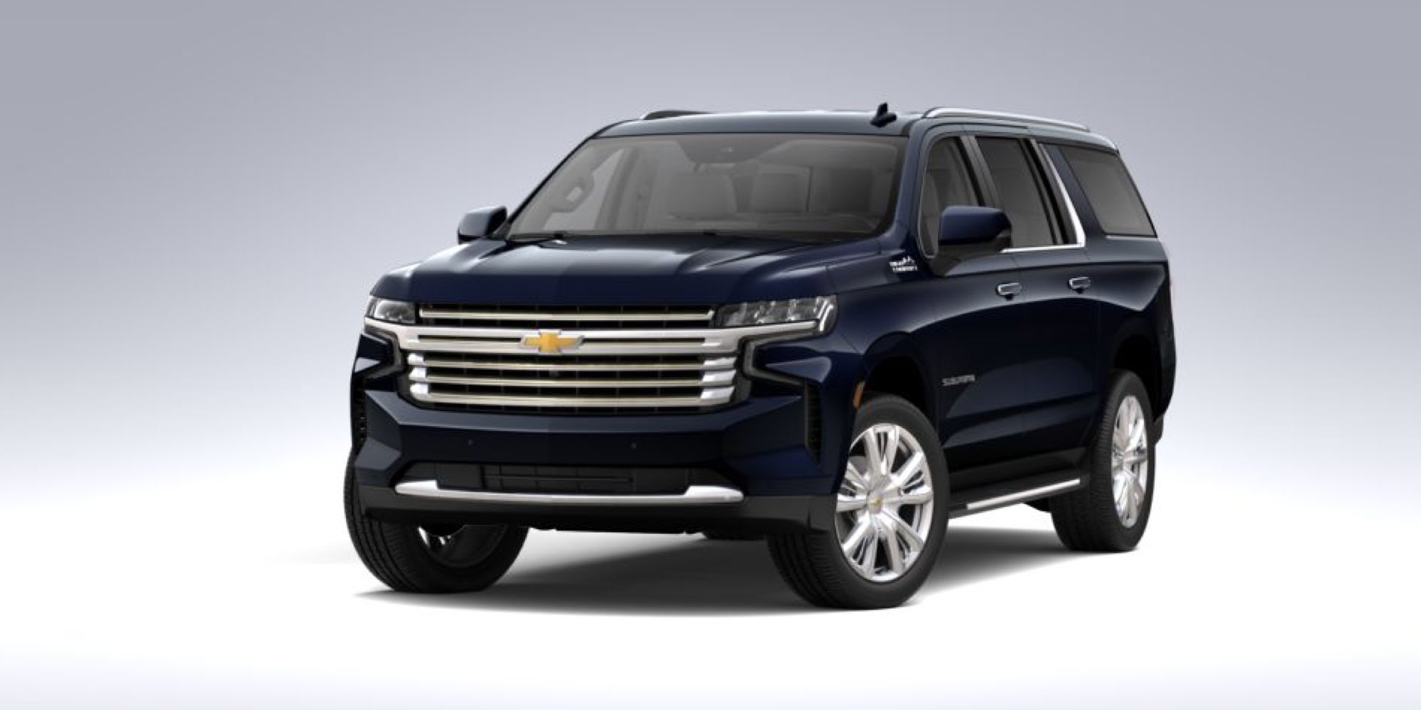 2021 Chevy Suburban in Midnight Blue Metallic