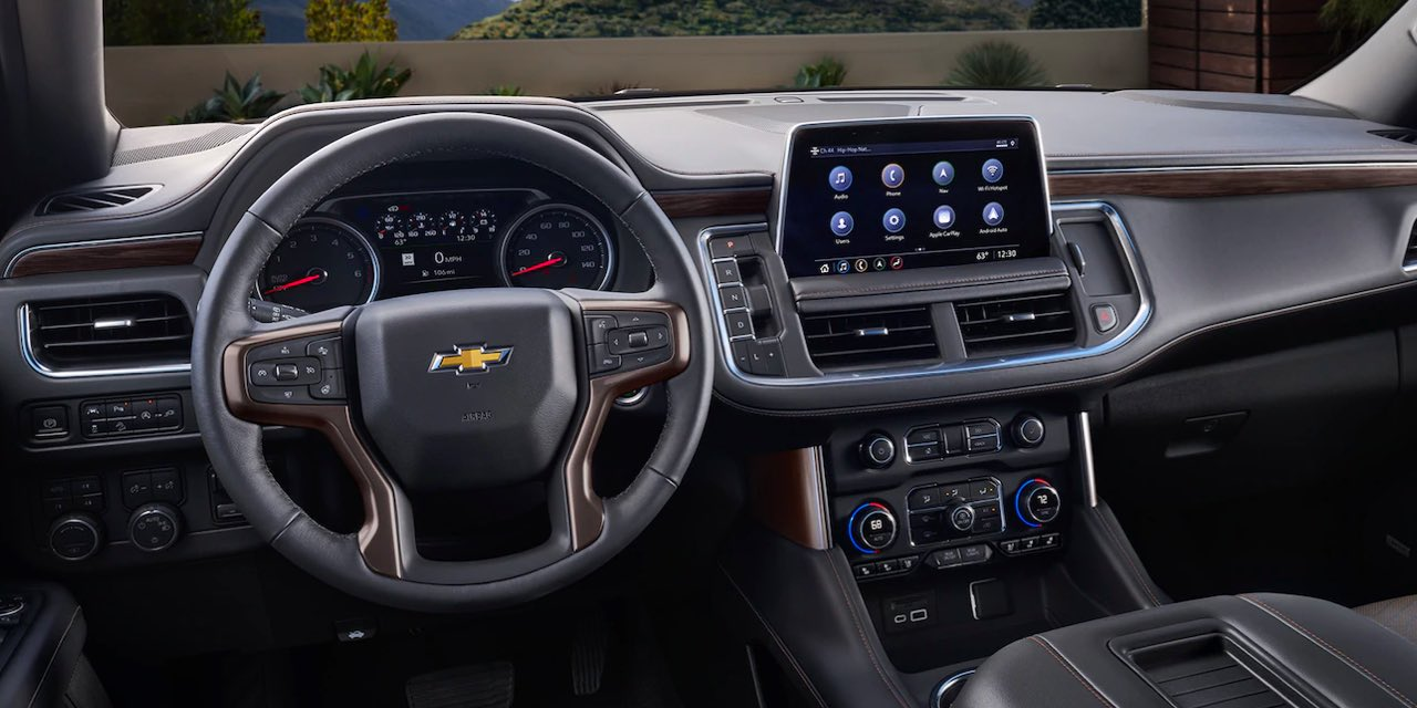 2021 Chevy Suburban dashboard