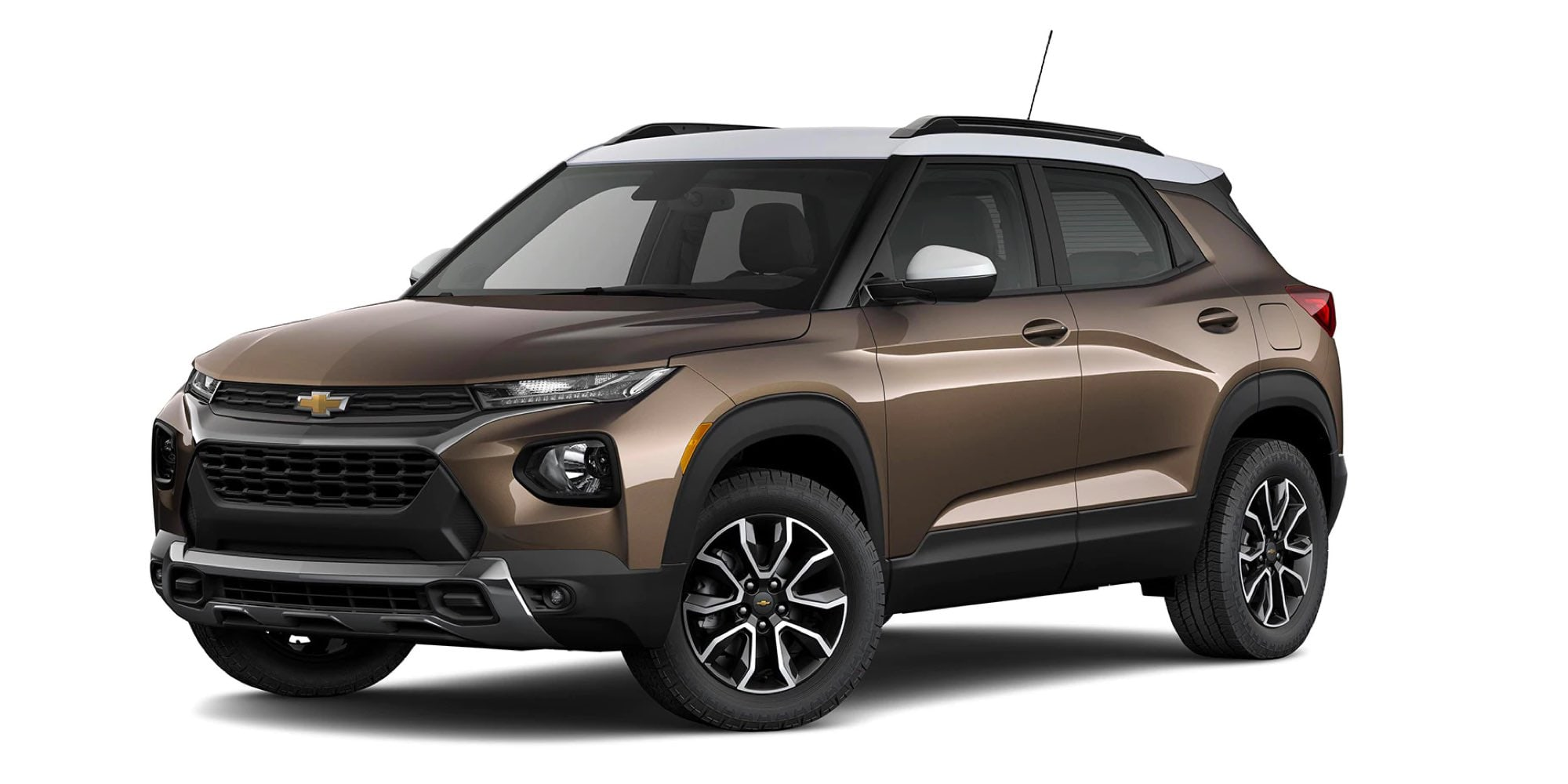 2021 Chevy Trailblazer in two-tone ZEUS BRONZE METALLIC / SUMMIT WHITE