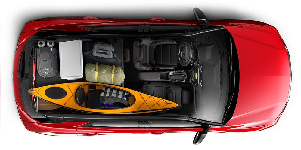 2021 Chevrolet Trailblazer overhead view of cargo space