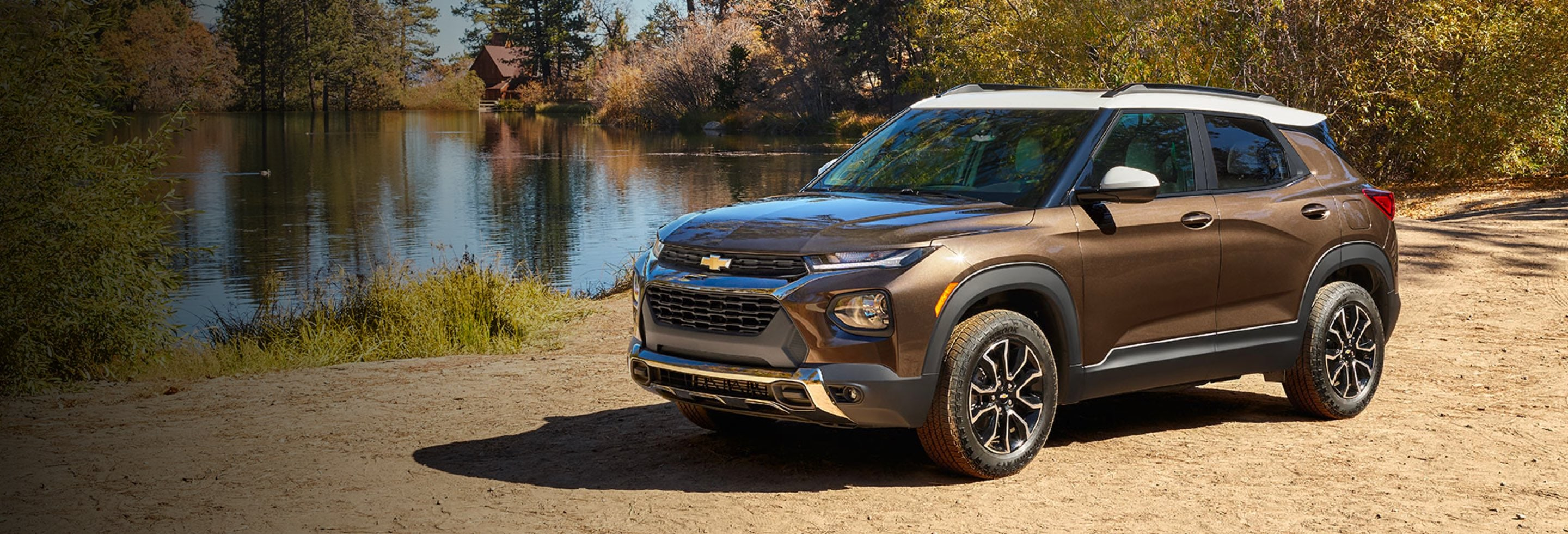 2021 Chevrolet Trailblazer parked near a pond