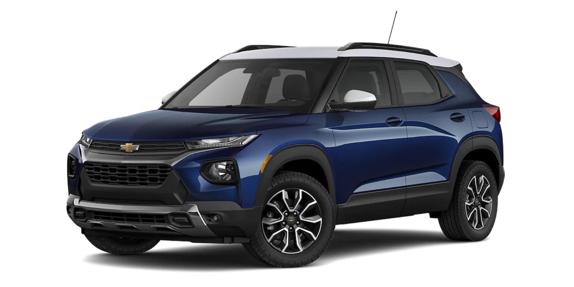 2022 Chevy Trailblazer in two-tone Blue Glow METALLIC / SUMMIT WHITE