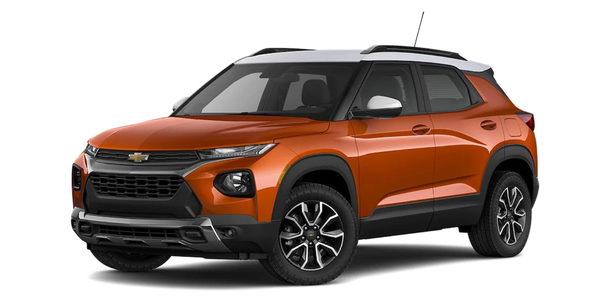 2022 Chevy Trailblazer in two-tone Vivid Orange Metallic / Summit White