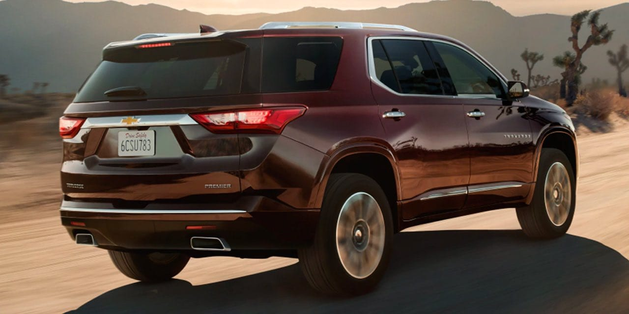 2021 Chevrolet Traverse driving down road