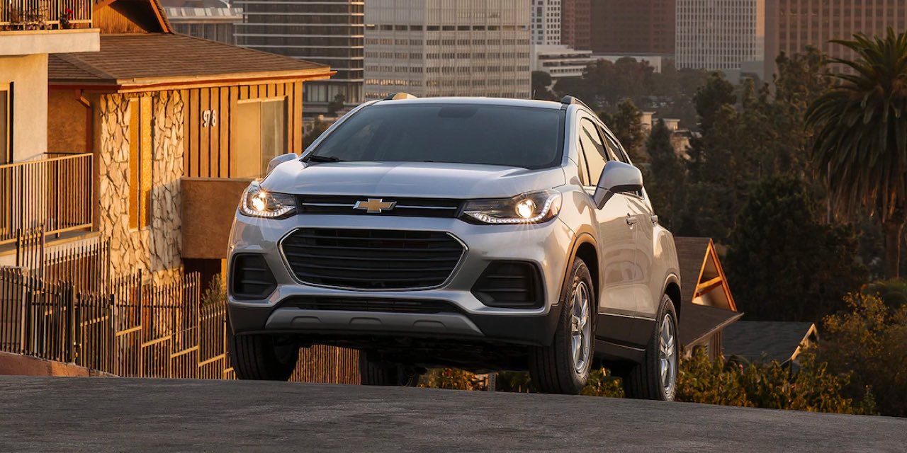 2021 Chevy Trax driving uphill