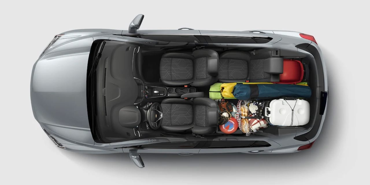 2022 Chevy Trax overhead view of trunk space
