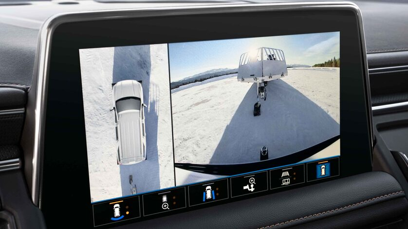 GMC AT4 available High Definition Surround Vision overhead camera view