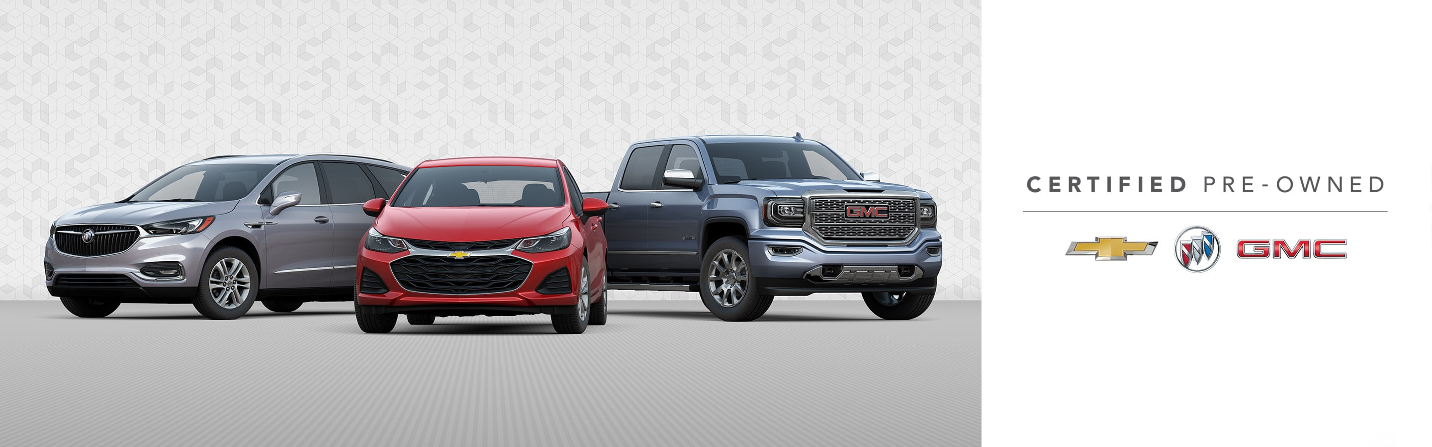 Buick, Chevrolet and GMC Certified Pre-Owned vehicles