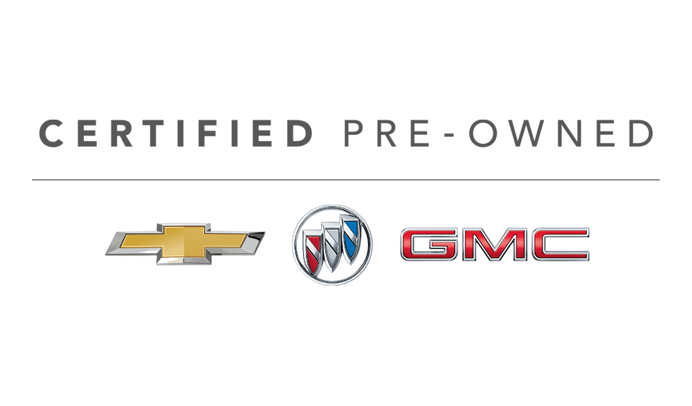 Chevy Buick GMC Certified Pre-Owned vehicles