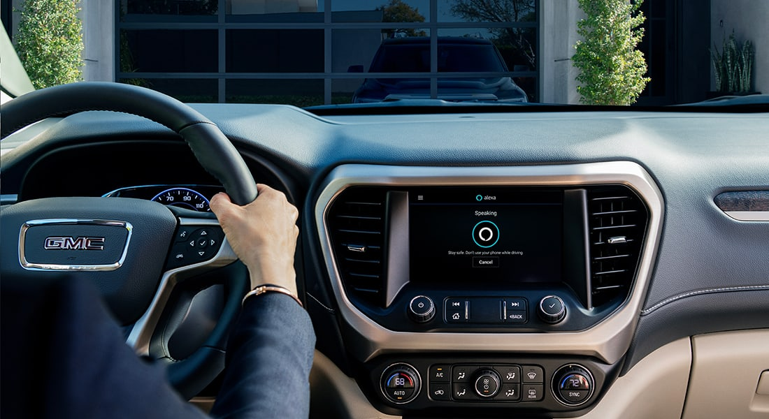 GMC vehicle with Alexa Built-in