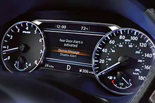 Digital Display Featuring Rear Door Alert