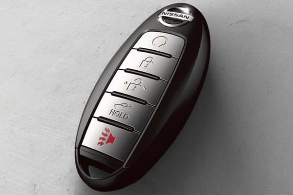 Nissan Key Fob with button functions including Remote Engine Start