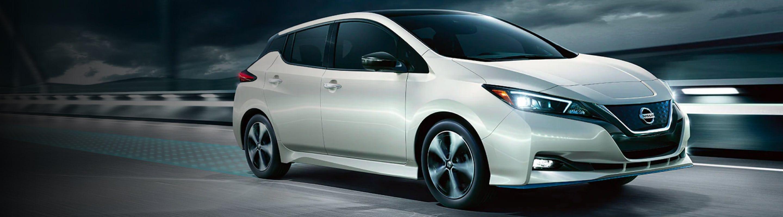 2021 Nissan LEAF in Pearl White Tri-Coat