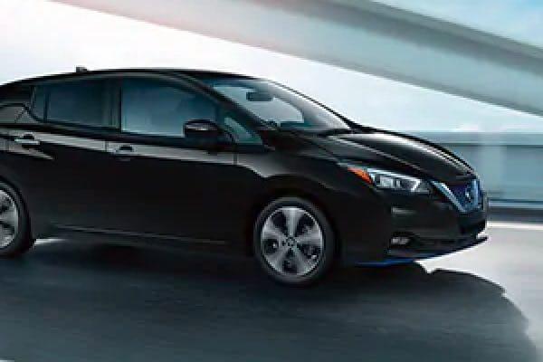 Side shot of Nissan LEAF driving