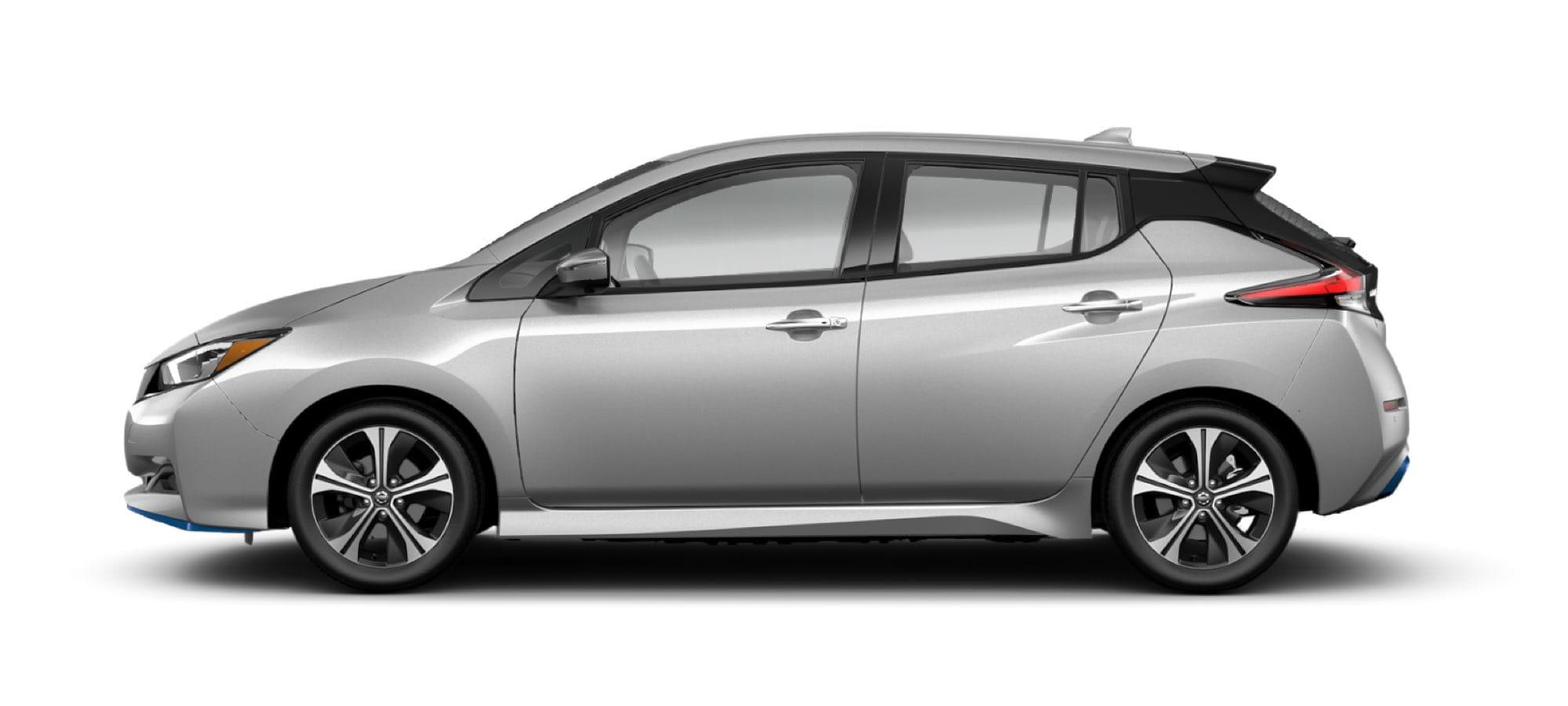 2021 Nissan LEAF in Brilliant Silver Metallic