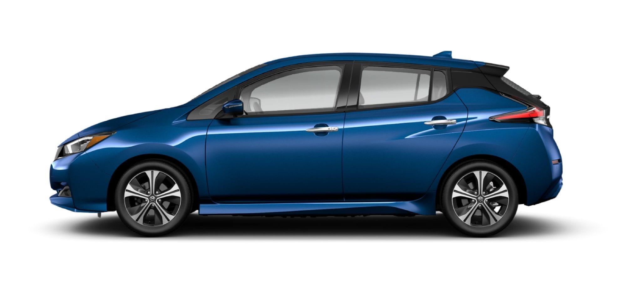 2021 Nissan LEAF in Deep Blue Pearl