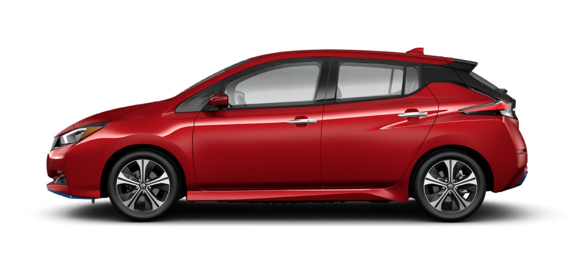 2021 Nissan LEAF in Scarlet Amber Tintcoat