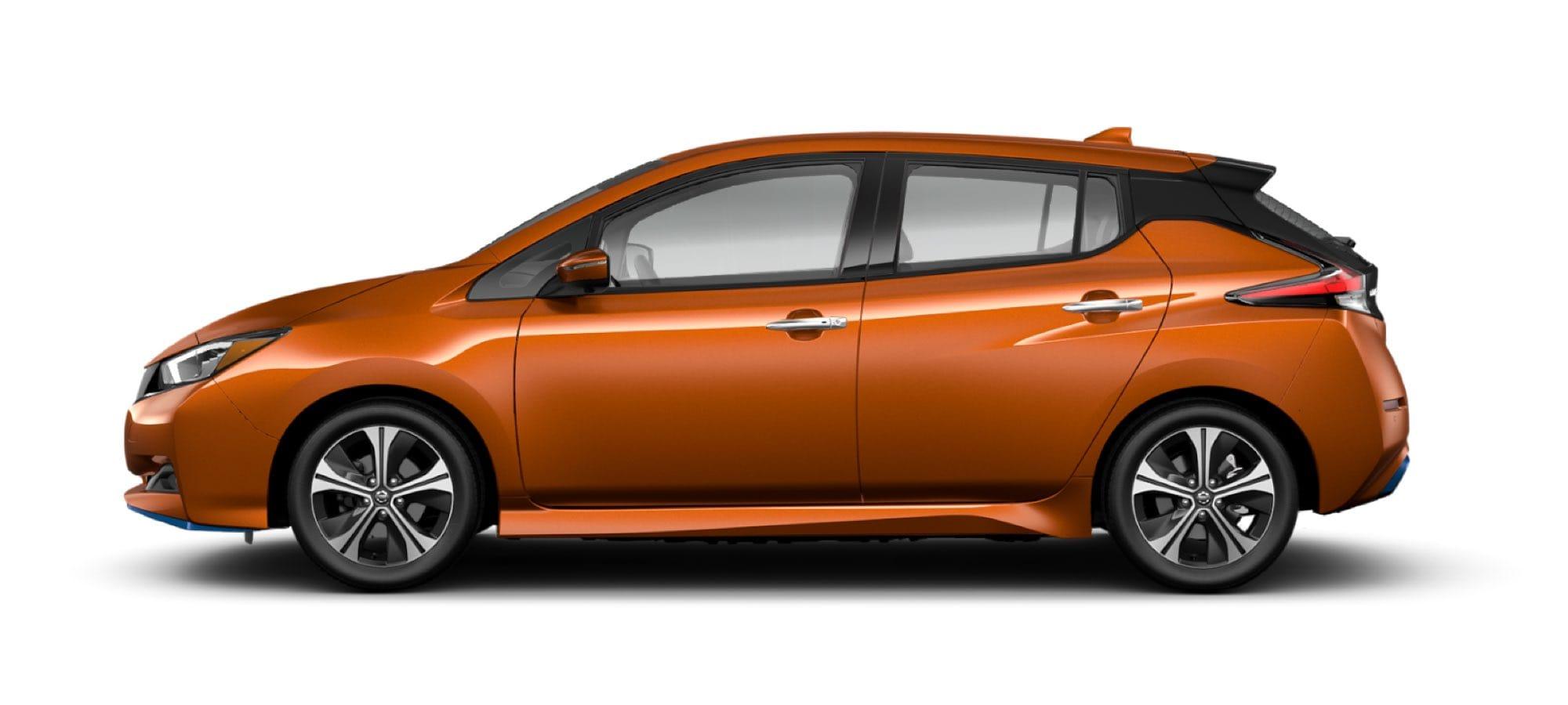2021 Nissan LEAF in Sunset Drift Chroma Flair