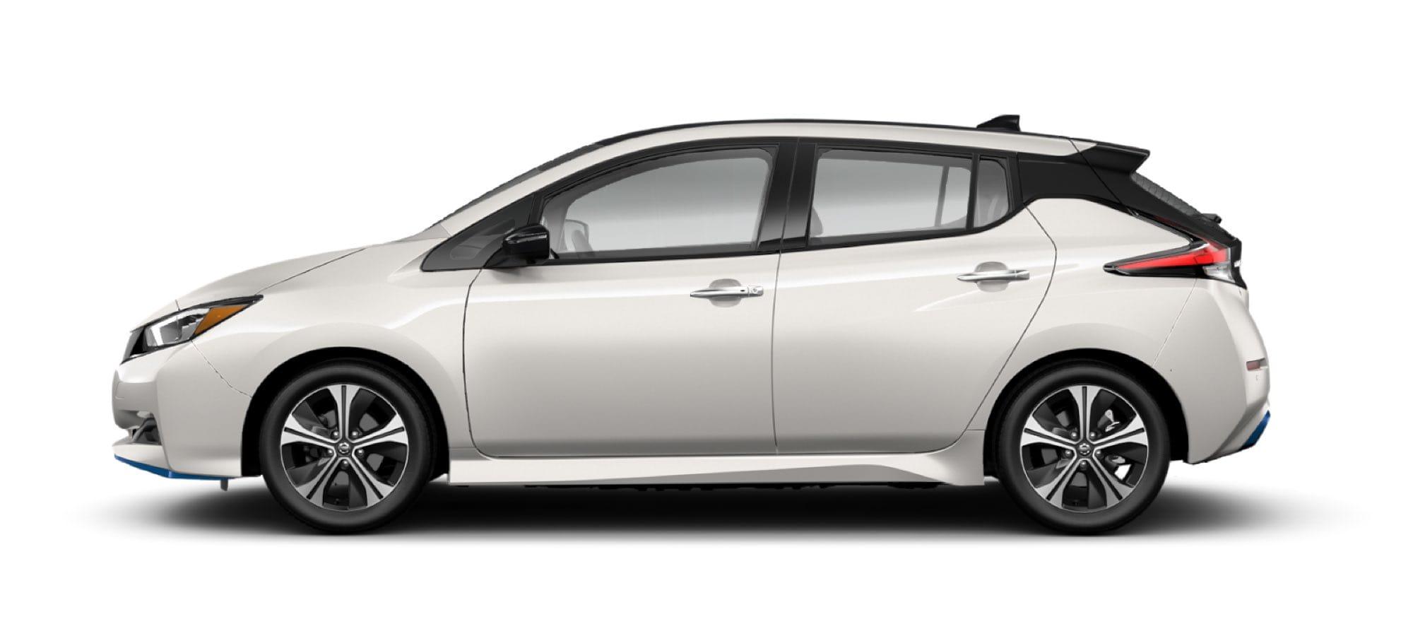 2021 Nissan LEAF Two-Tone Pearl White Tri-Coat/Super Black
