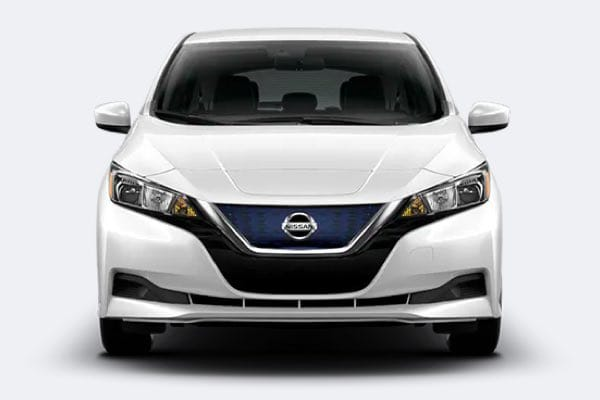Nissan LEAF front facing picture with grille