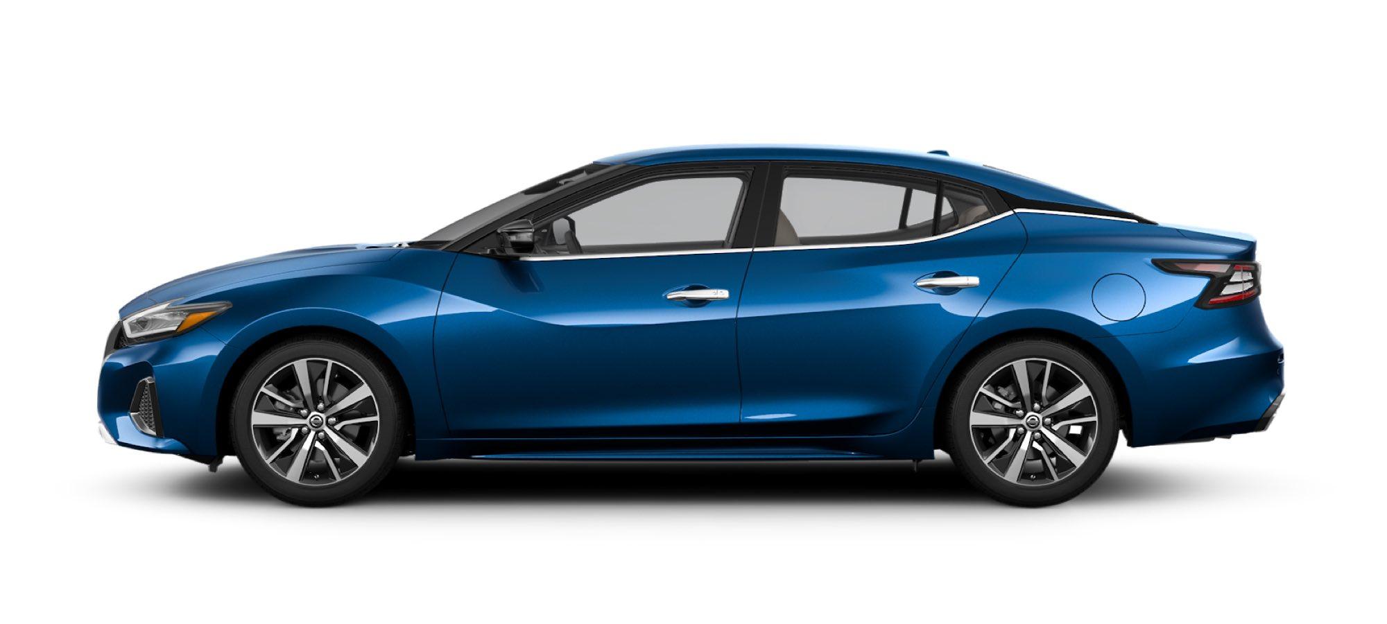 2021 Nissan Maxima in Deep Blue Pearl