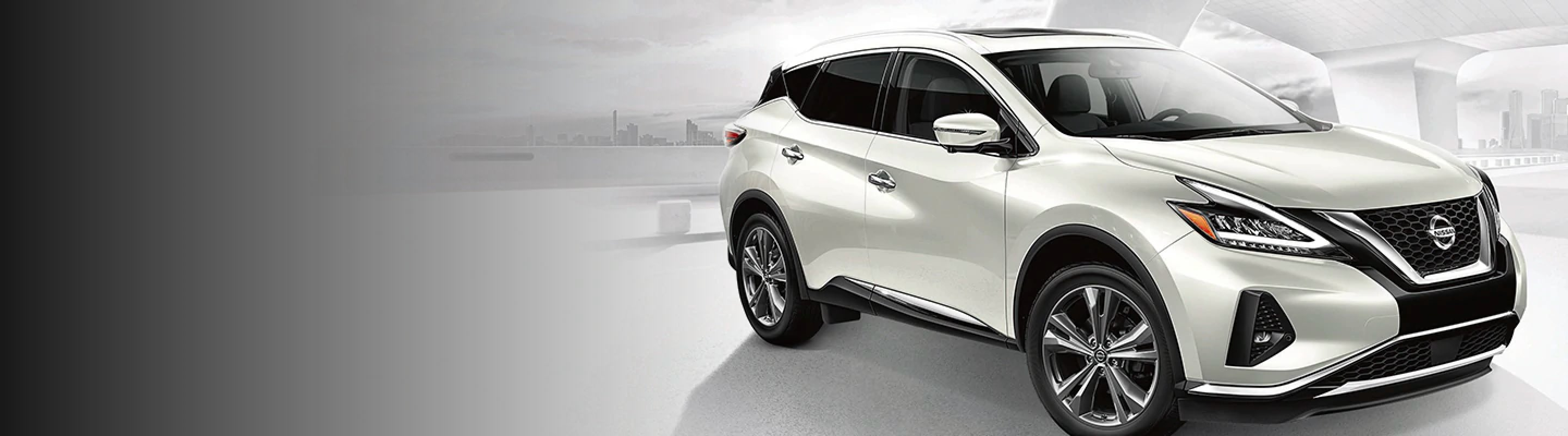2021 Nissan Murano white front angle view