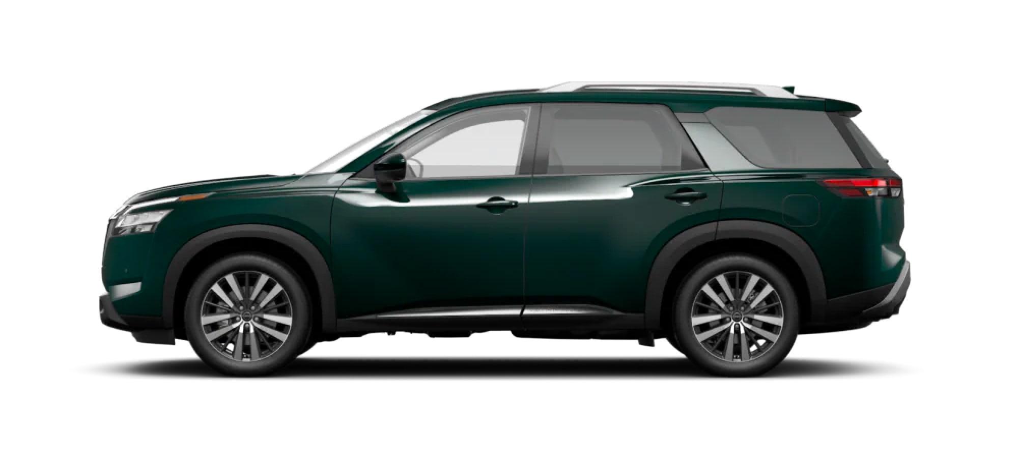 2022 Nissan Pathfinder in Obsidian Green Pearl