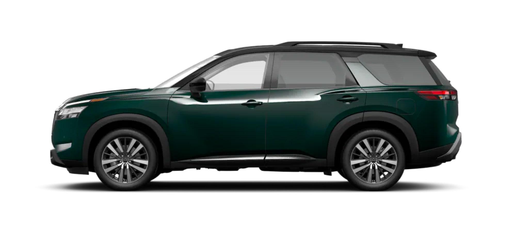 2022 Nissan Pathfinder in Two-Tone Obsidian Green Pearl / Super Black