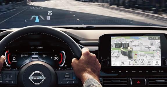 2022 Nissan Pathfinder head up display