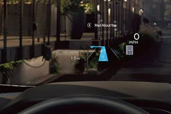 Head-up Display above dashboard