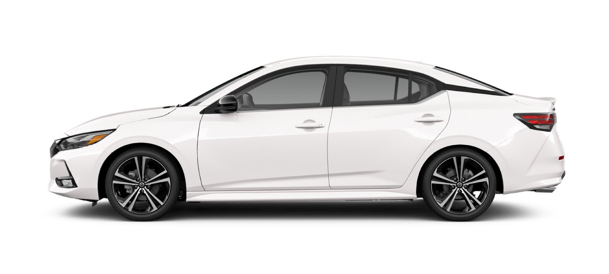 Aspen White Nissan Sedan